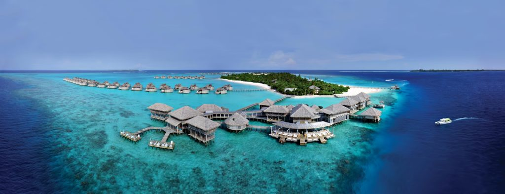 Six Senses Laamu Luxury Resort - Laamu Atoll, Maldives - Chill Bar and Longitude Aerial