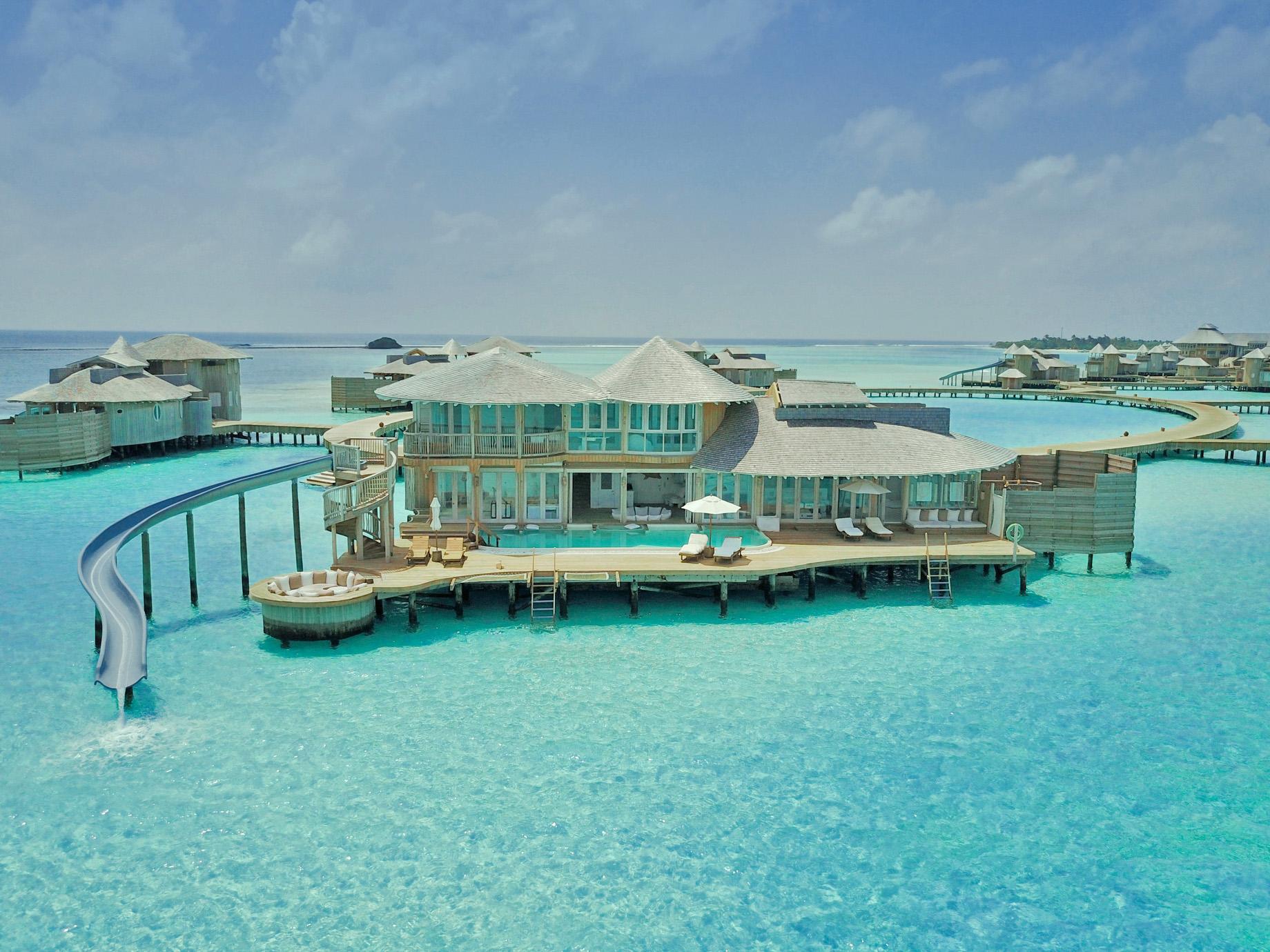 Soneva Jani Luxury Resort – Noonu Atoll, Medhufaru, Maldives – 3 Bedroom Water Reserve Villa with Slide Aerial