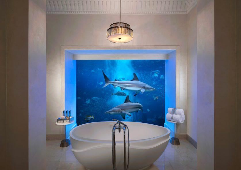 Atlantis The Palm Luxury Resort - Crescent Rd, Dubai, UAE - Underwater Suite Bathroom