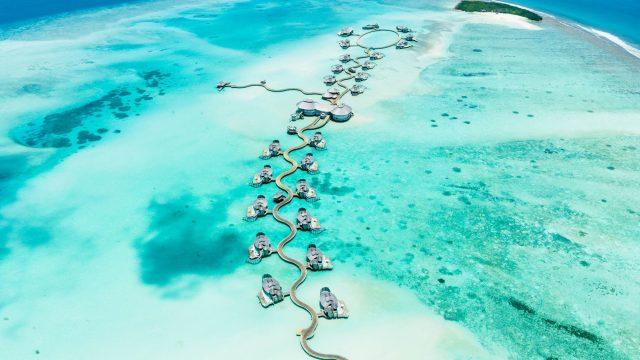 Soneva Jani Luxury Resort - Noonu Atoll, Medhufaru, Maldives - Jetty Aerial View