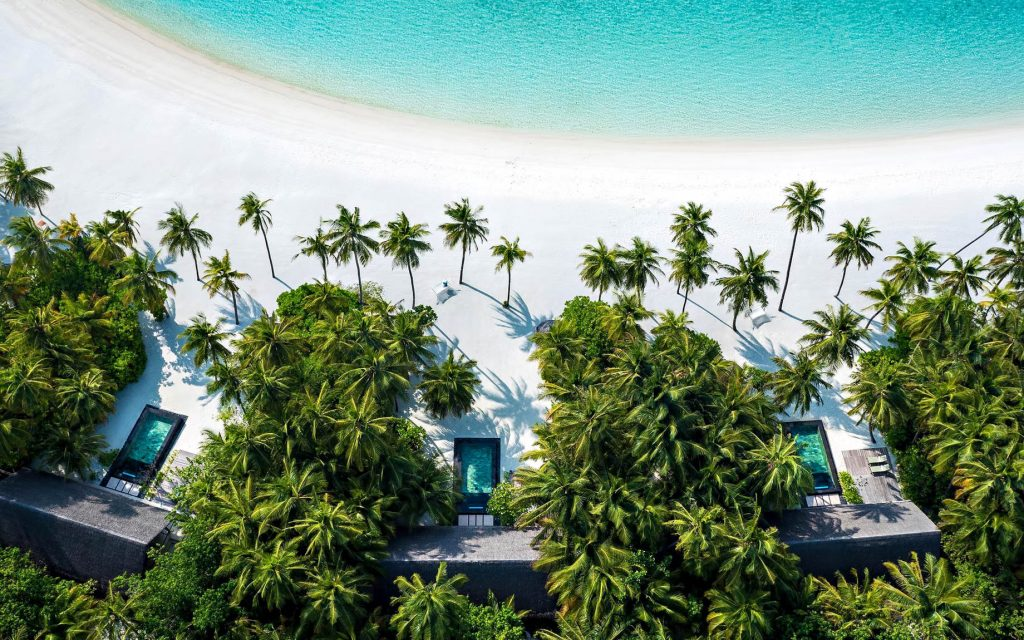 One&Only Reethi Rah Luxury Resort - North Male Atoll, Maldives - Beach Villa Overhead View
