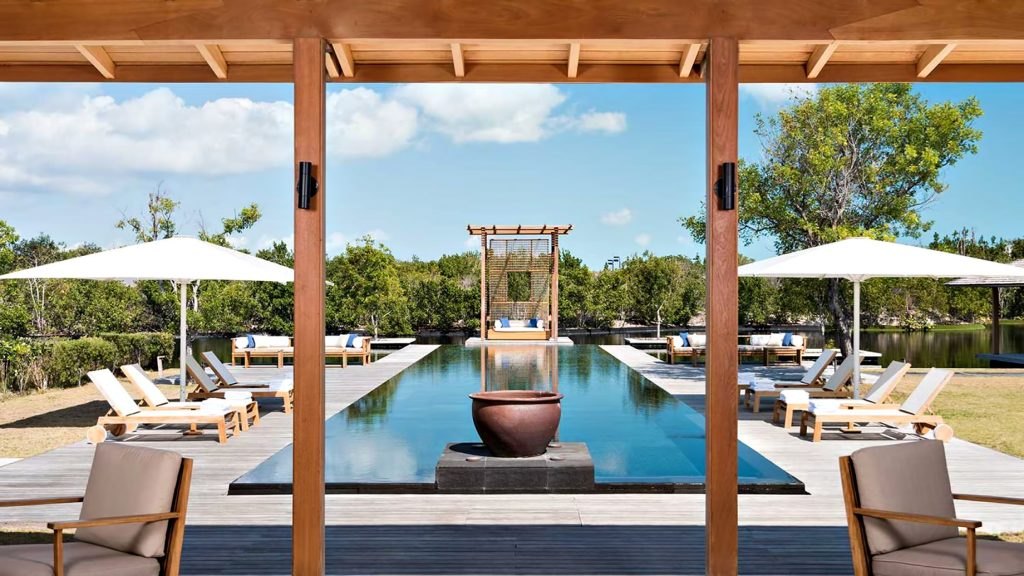 Amanyara Luxury Resort - Providenciales, Turks and Caicos Islands - 4 Bedroom Tranquility Villa Infinity Pool Deck View