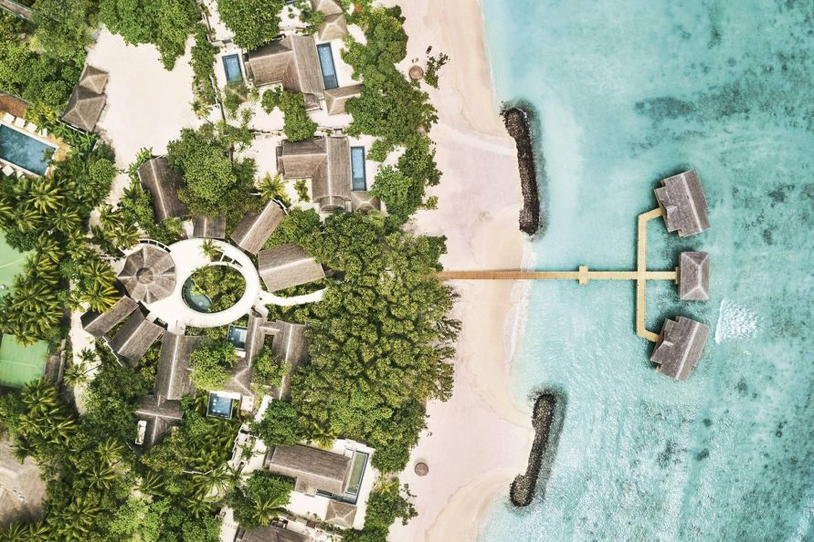 Joali Maldives Luxury Resort - Muravandhoo Island, Maldives - Resort Overhead