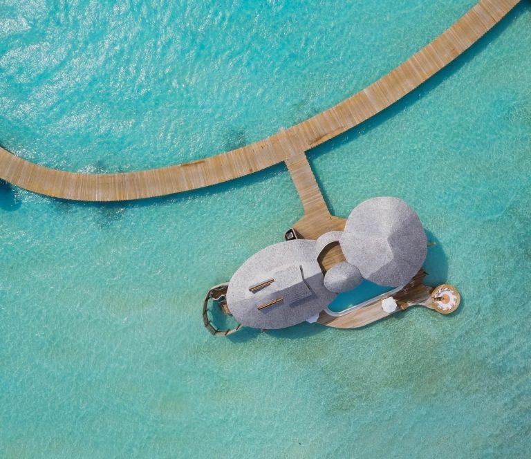Soneva Jani Luxury Resort - Noonu Atoll, Medhufaru, Maldives - 2 Bedroom Water Retreat Overhead Aerial