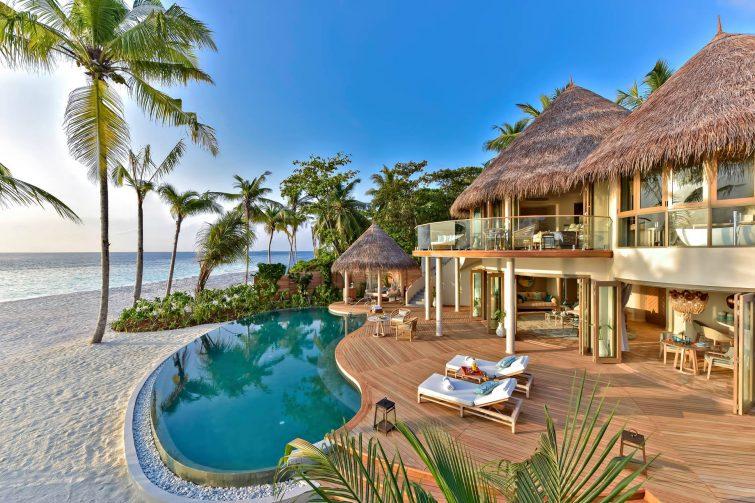 The Nautilus Maldives Luxury Resort - Thiladhoo Island, Maldives - Beachfront Residence Ininity Pool