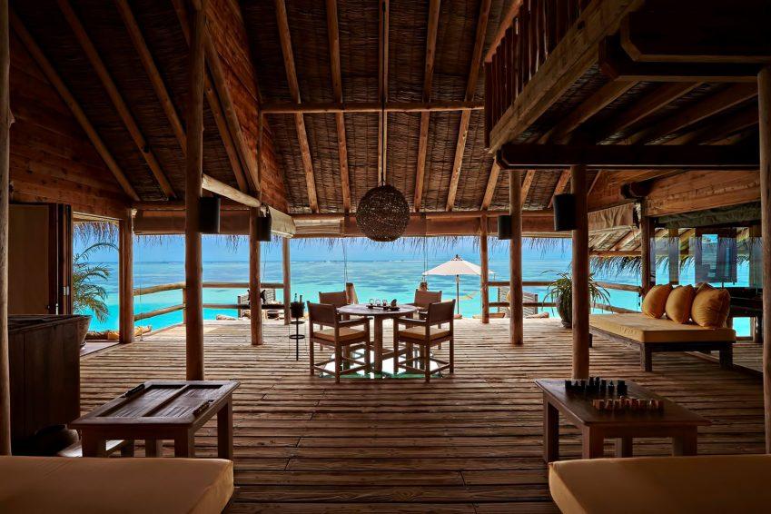 Gili Lankanfushi Luxury Resort - North Male Atoll, Maldives - Overwater Villa Living Dining Area