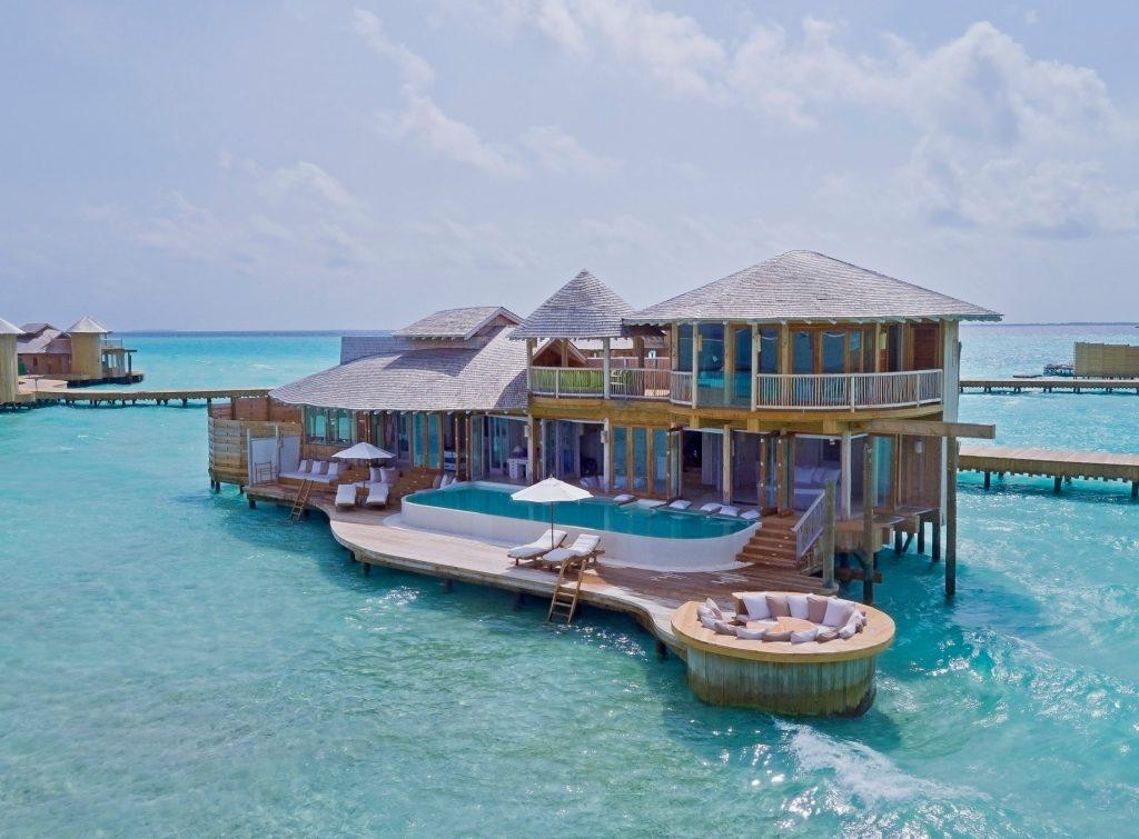 Soneva Jani Luxury Resort - Noonu Atoll, Medhufaru, Maldives - 2 Bedroom Water Retreat Aerial