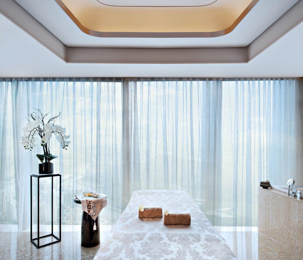 The St. Regis Shenzhen Luxury Hotel - Shenzhen, China - 75th Floor Iridium Spa Treatment Room