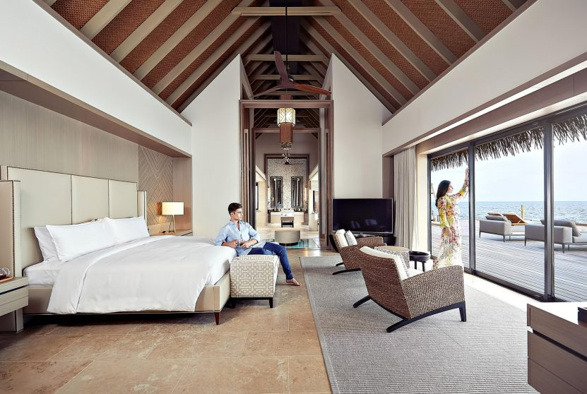 Waldorf Astoria Maldives Ithaafushi Luxury Resort - Ithaafushi Island, Maldives - Resort Private Island Villa Master Bedroom