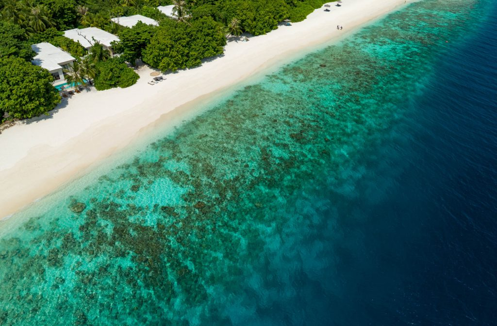 Amilla Fushi Luxury Resort and Residences - Baa Atoll, Maldives - Beach Villa Aerial