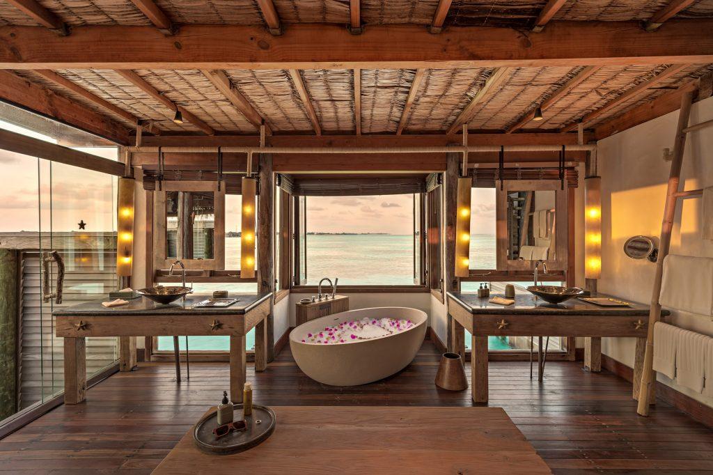 Gili Lankanfushi Luxury Resort - North Male Atoll, Maldives - Overwater Villa Bathroom Ocean View