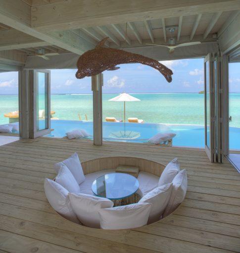 Soneva Jani Luxury Resort - Noonu Atoll, Medhufaru, Maldives - 2 Bedroom Water Retreat Pool Deck Lounge