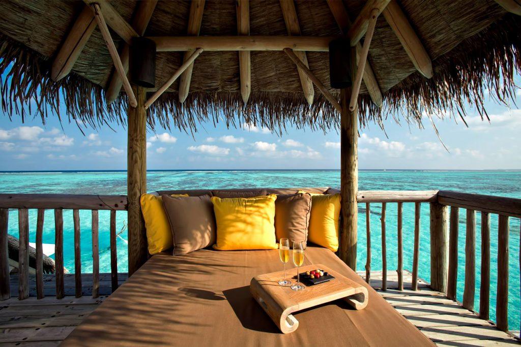 Gili Lankanfushi Luxury Resort - North Male Atoll, Maldives - Overwater Villa Outdoor Lounge Ocean View
