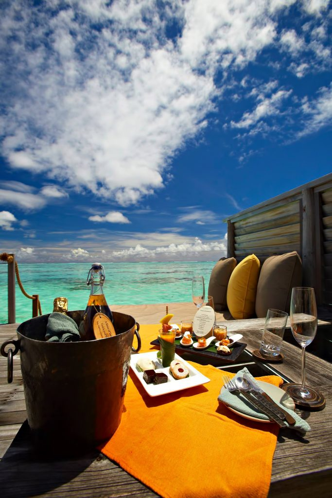 Gili Lankanfushi Luxury Resort - North Male Atoll, Maldives - Overwater Villa Outdoor Lounge Dining