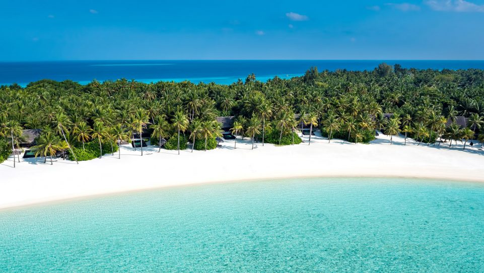 One&Only Reethi Rah Luxury Resort - North Male Atoll, Maldives - Beachront Villa Residence Aerial View