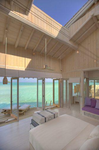 Soneva Jani Luxury Resort - Noonu Atoll, Medhufaru, Maldives - 2 Bedroom Water Retreat Villa Bedroom Sunroof