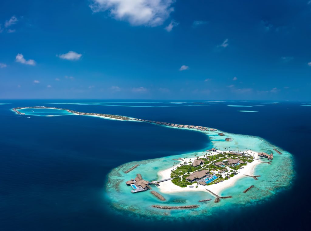 Waldorf Astoria Maldives Ithaafushi Luxury Resort - Ithaafushi Island, Maldives - Resort Private Island Aerial View