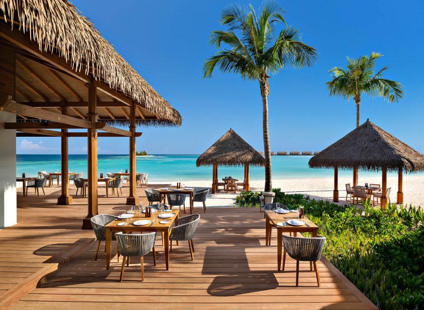 Waldorf Astoria Maldives Ithaafushi Luxury Resort - Ithaafushi Island, Maldives - Beachfront Tasting Table
