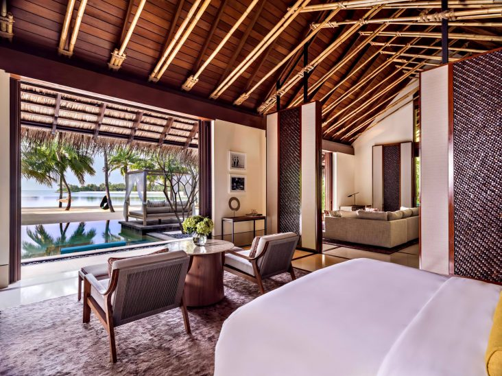 One&Only Reethi Rah Luxury Resort - North Male Atoll, Maldives - Grand Beach Villa Master Bedroom