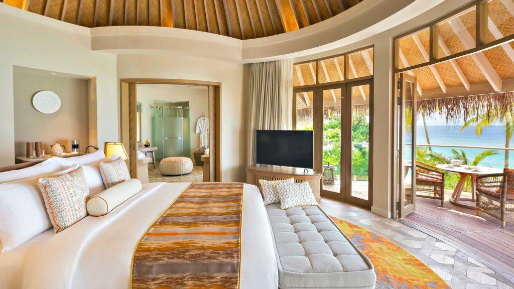 The Nautilus Maldives Luxury Resort - Thiladhoo Island, Maldives - Beach Residence Master Bedroom