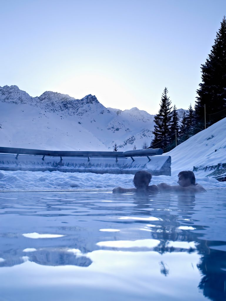 Tschuggen Grand Luxury Hotel - Arosa, Switzerland - Winter Exterior Pool