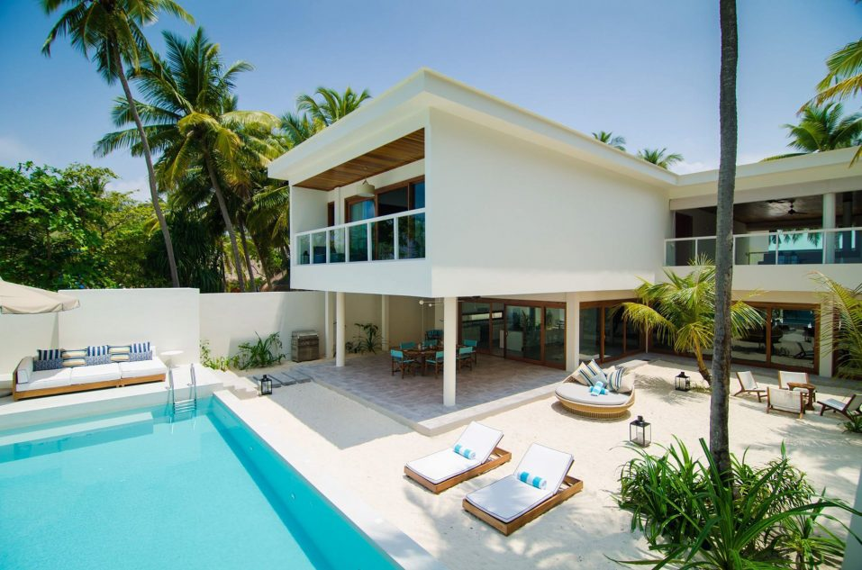 Amilla Fushi Luxury Resort and Residences - Baa Atoll, Maldives - Oceanfront Beach Villa Pool Deck