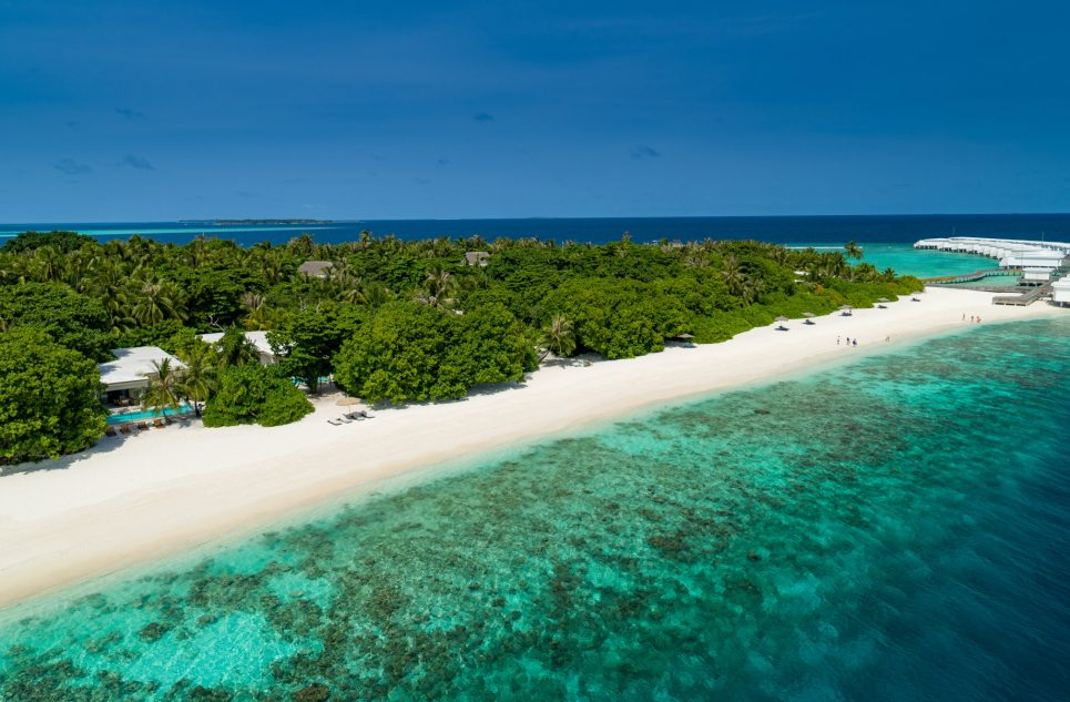 Amilla Fushi Luxury Resort and Residences - Baa Atoll, Maldives - Oceanfront Beach Villa Aerial