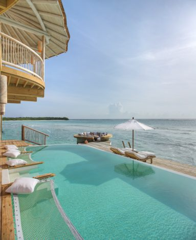 Soneva Jani Luxury Resort - Noonu Atoll, Medhufaru, Maldives - 2 Bedroom Water Retreat Villa Outdoor Pool Deck