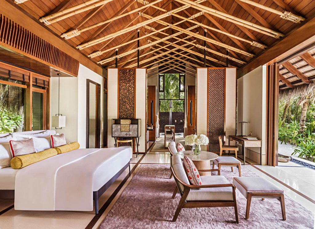 One&Only Reethi Rah Luxury Resort - North Male Atoll, Maldives - Grand Beach Villa Bedroom