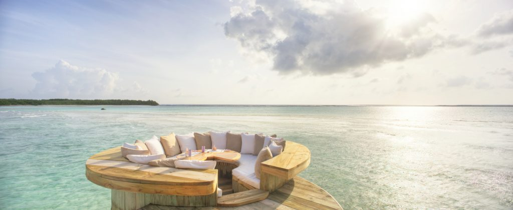 Soneva Jani Luxury Resort - Noonu Atoll, Medhufaru, Maldives - 2 Bedroom Water Retreat Villa Outdoor Pool Deck Overwater Lounge