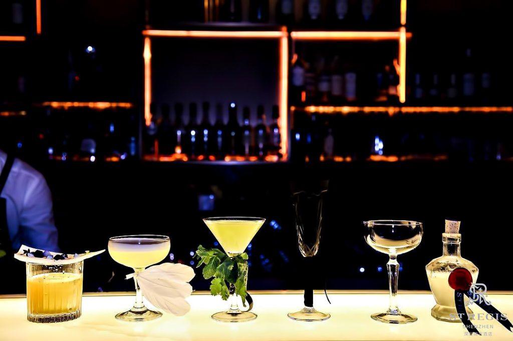 The St. Regis Shenzhen Luxury Hotel - Shenzhen, China - St. Regis Bar Cocktails