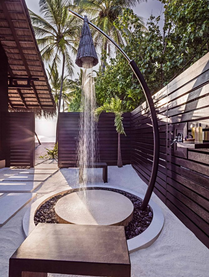 One&Only Reethi Rah Luxury Resort - North Male Atoll, Maldives - Grand Beach Villa Outdoor Shower