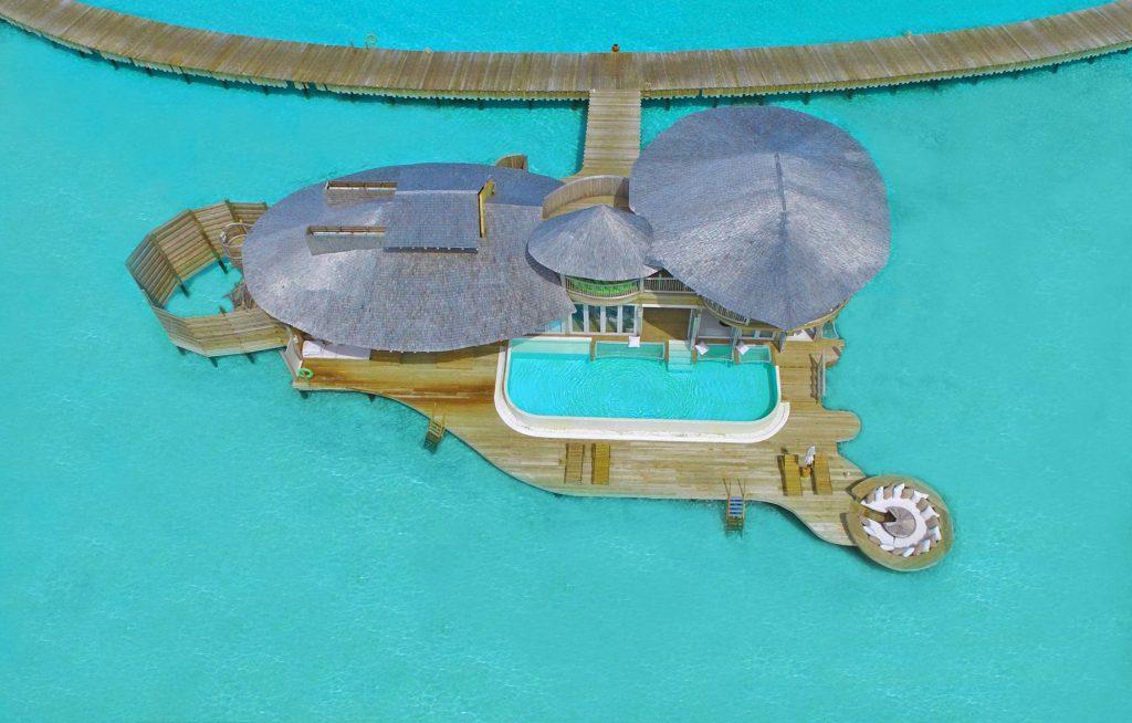 Soneva Jani Luxury Resort - Noonu Atoll, Medhufaru, Maldives - 2 Bedroom Water Retreat Villa Aerial