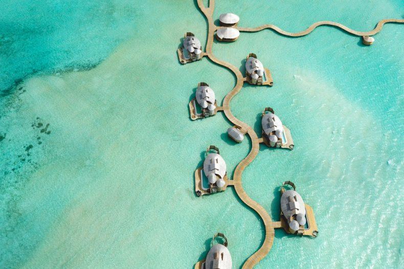 Soneva Jani Luxury Resort - Noonu Atoll, Medhufaru, Maldives - 2 Bedroom Water Retreat Villa Jetty Aerial