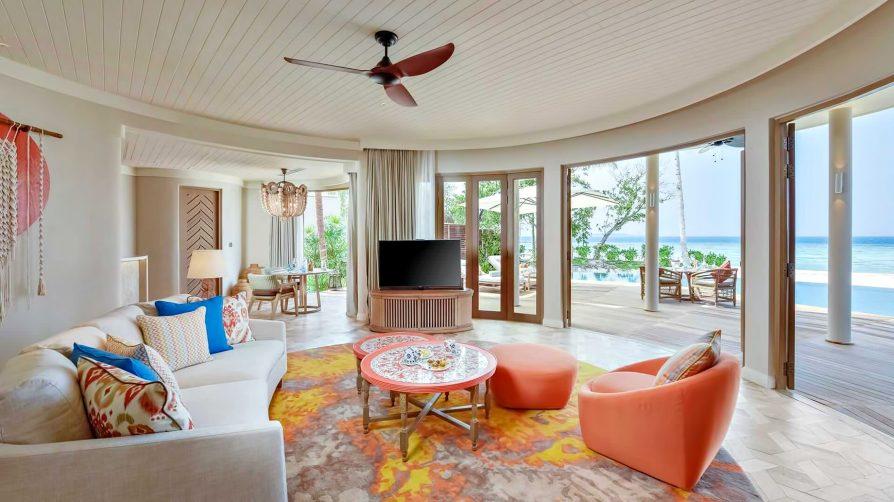 The Nautilus Maldives Luxury Resort - Thiladhoo Island, Maldives - Beach Residence Living Room