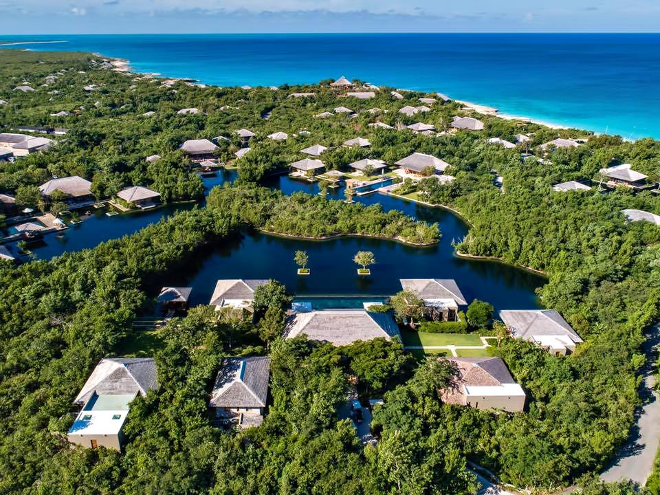 Amanyara Luxury Resort - Providenciales, Turks and Caicos Islands - Villa Reflection Pond Aerial