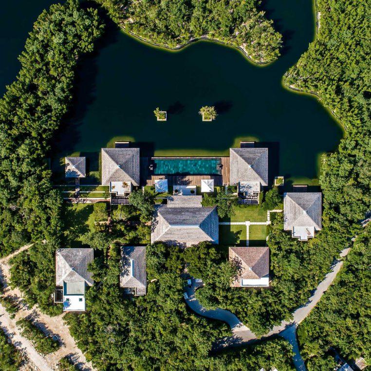 Amanyara Luxury Resort - Providenciales, Turks and Caicos Islands - 6 Bedroom Amanyara Villa Overhead Aerial