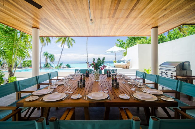 Amilla Fushi Luxury Resort and Residences - Baa Atoll, Maldives - Oceanfront Beach Residence Covered Deck