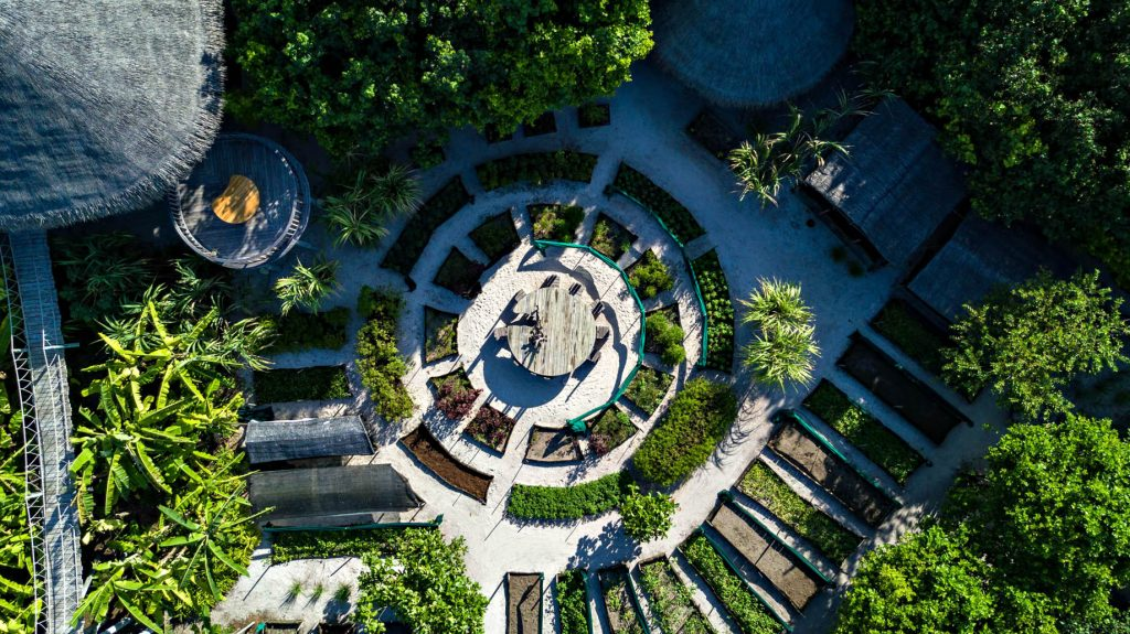 Six Senses Laamu Luxury Resort - Laamu Atoll, Maldives - The Chili Table Overhead View