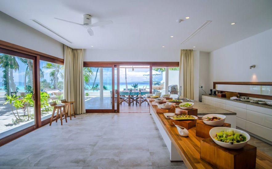 Amilla Fushi Luxury Resort and Residences - Baa Atoll, Maldives - Oceanfront Beach Residence Kitchen