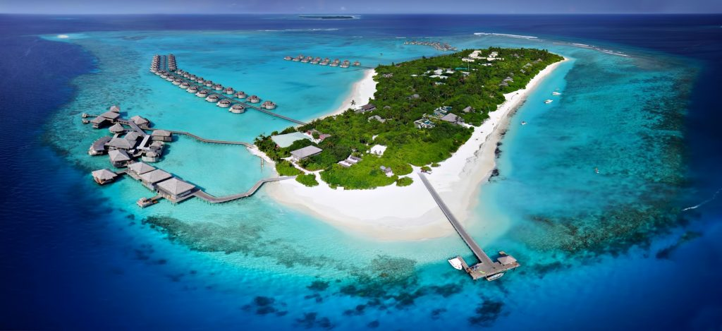 Six Senses Laamu Luxury Resort - Laamu Atoll, Maldives - Aerial View