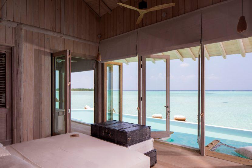 Soneva Jani Luxury Resort - Noonu Atoll, Medhufaru, Maldives - 1 Bedroom Water Retreat Villa Bedroom Ocean View