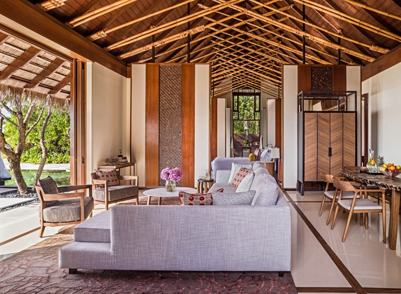One&Only Reethi Rah Luxury Resort - North Male Atoll, Maldives - Grand Beach Villa Living Room