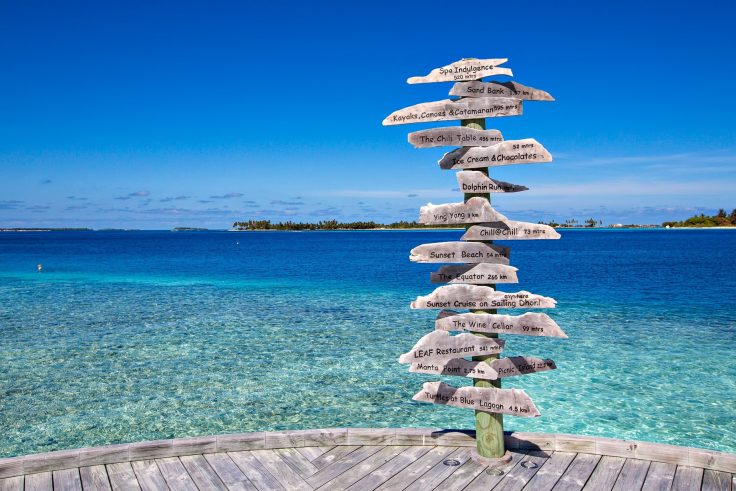 Six Senses Laamu Luxury Resort - Laamu Atoll, Maldives - Resort Signpost