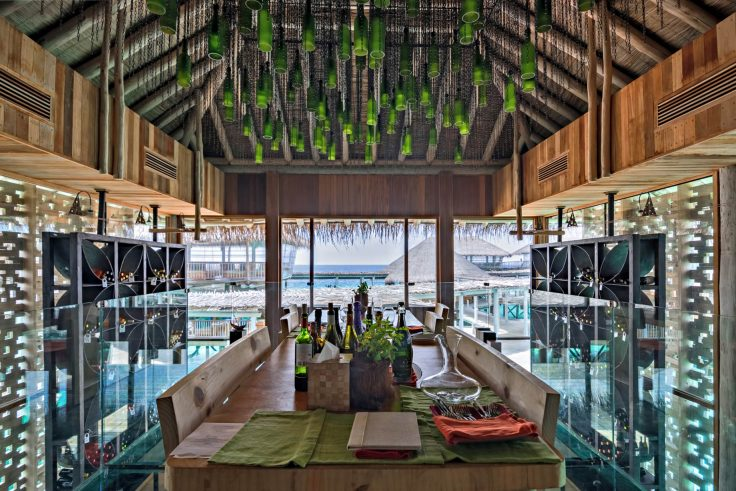 Six Senses Laamu Luxury Resort - Laamu Atoll, Maldives - Altitude Wine Cellar