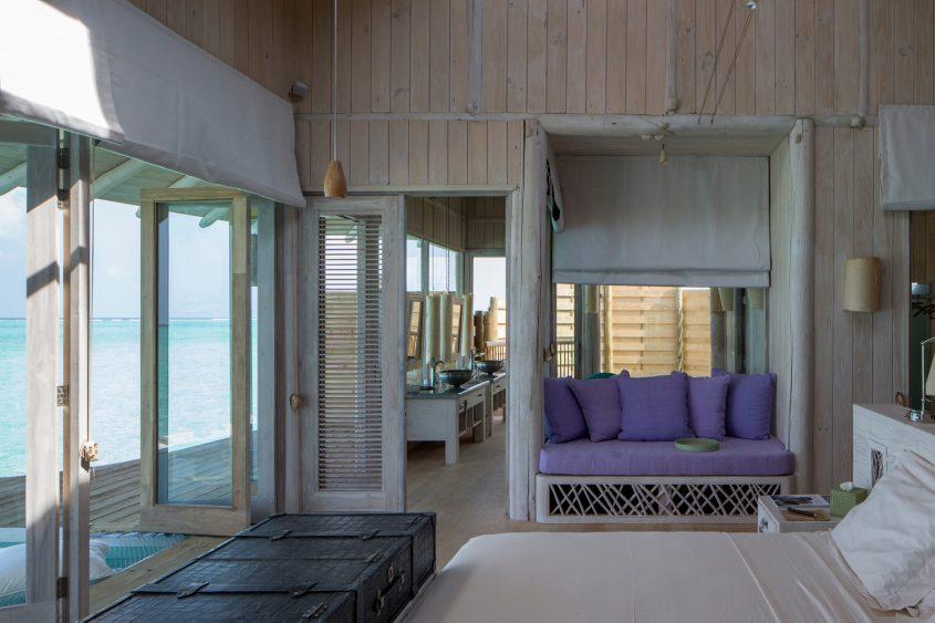 Soneva Jani Luxury Resort - Noonu Atoll, Medhufaru, Maldives - 1 Bedroom Water Retreat Villa Bedroom Bathroom View