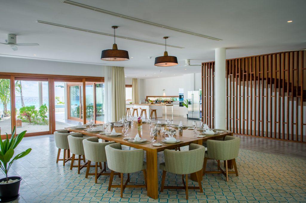 Amilla Fushi Luxury Resort and Residences - Baa Atoll, Maldives - Oceanfront Beach Residence Dining Room