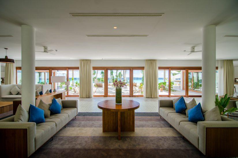 Amilla Fushi Luxury Resort and Residences - Baa Atoll, Maldives - Oceanfront Beach Residence Living Room