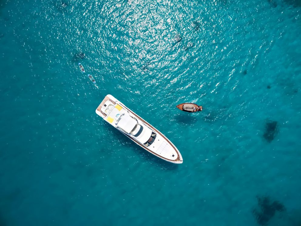 Cheval Blanc Randheli Luxury Resort - Noonu Atoll, Maldives - Resort Yacht Aerial