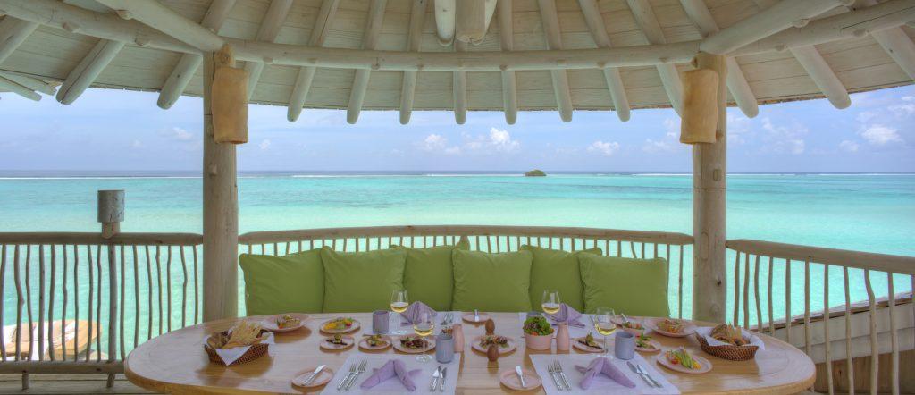 Soneva Jani Luxury Resort - Noonu Atoll, Medhufaru, Maldives - 1 Bedroom Water Retreat Villa Outdoor Dining Table